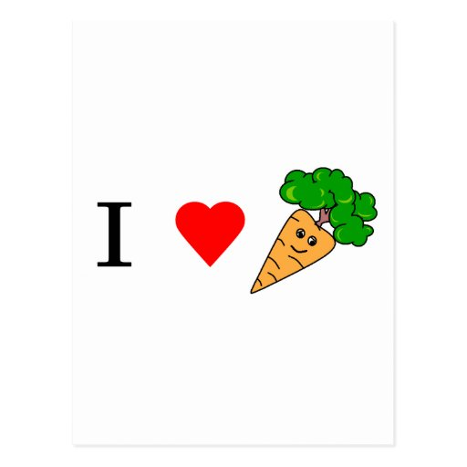 I heart Carrots Postcard