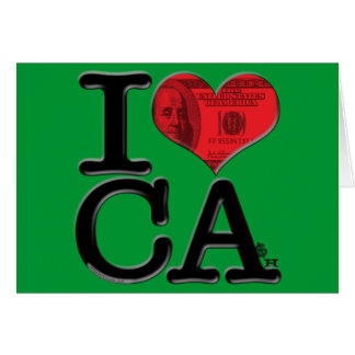 I (heart) CAsh Stationery Note Card