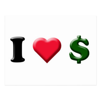 I Heart Cash Postcard