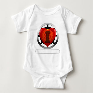 I heart Casinos- add your words Baby Bodysuit