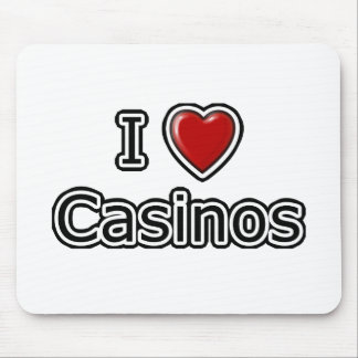 I Heart Casinos Mouse Pad