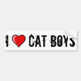 I Heart Cat Boys Car Bumper Sticker