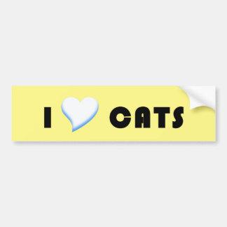 I Heart Cats Bumper Sticker