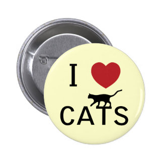 i heart cats button