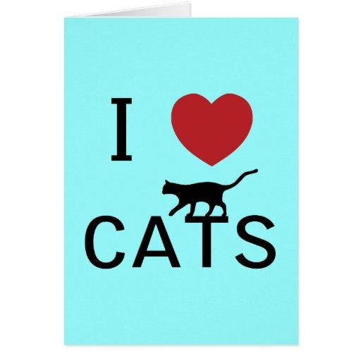 i heart cats card