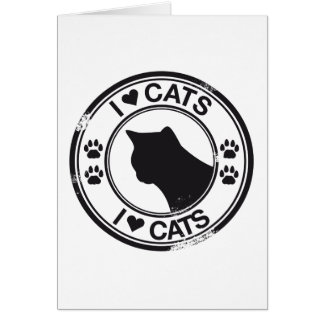 I heart Cats Greeting Cards