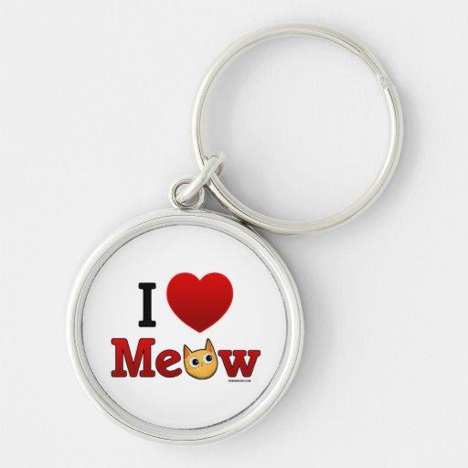 """""""I Heart Cats"""" """"I Love Cats"""" Cat Keychain"""