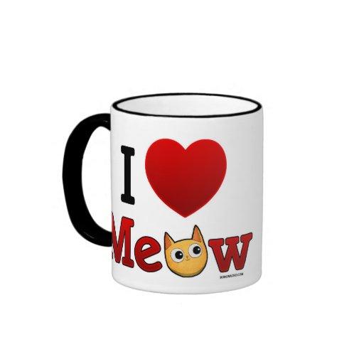"""""""I Heart Cats"""" """"I Love Cats"""" Coffee Mug"""