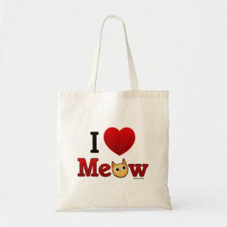 """""""I Heart Cats"""" """"I Love Cats"""" Tote bag"""