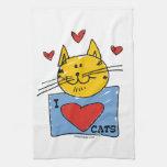 I Heart Cats Kitchen Towels