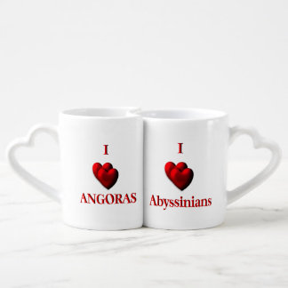 I Heart Cats Couple Mugs