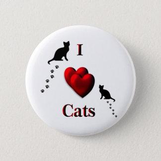I Heart Cats Pinback Button