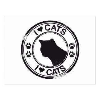 I heart Cats Post Cards