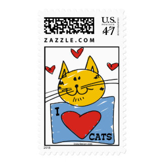 I Heart Cats Postage
