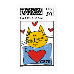 I Heart Cats Postage