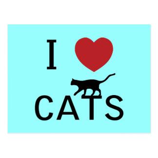 i heart cats postcard