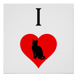 I Heart Cats Poster