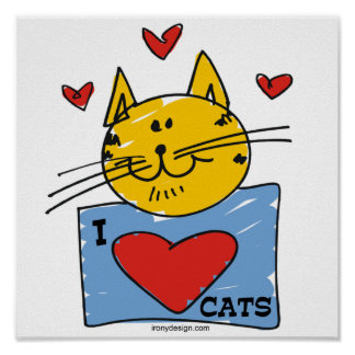I Heart Cats Poster