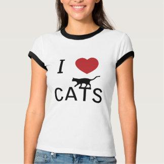 i heart cats - T-Shirt
