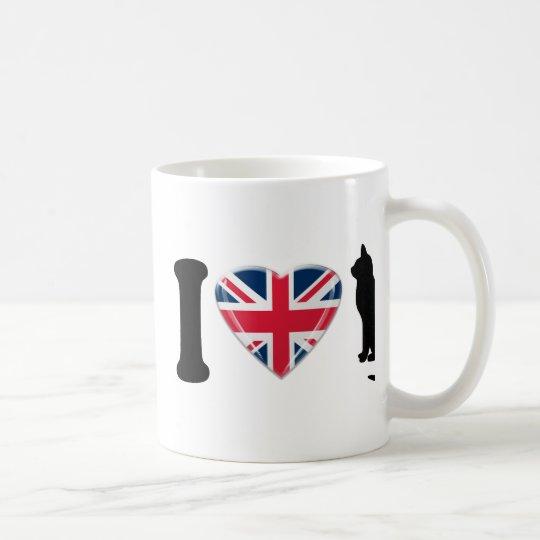 I Heart Cats, with 3D effect Union Jack Heart Coffee Mug