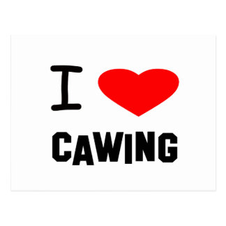 I Heart cawing Postcard