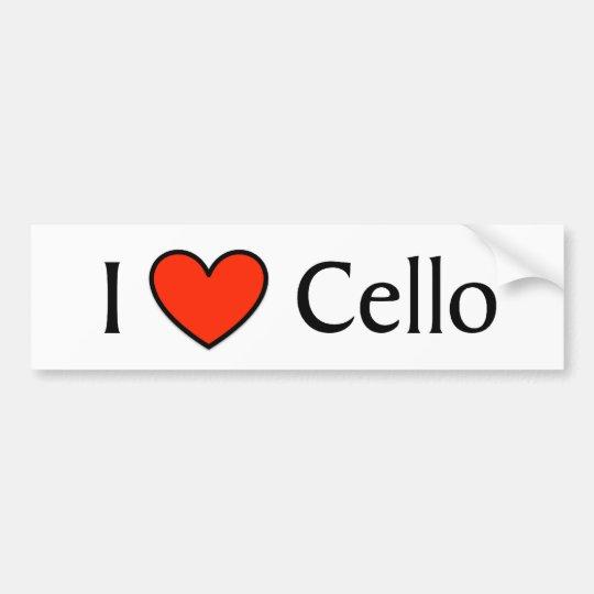 I Heart Cello Bumper Sticker