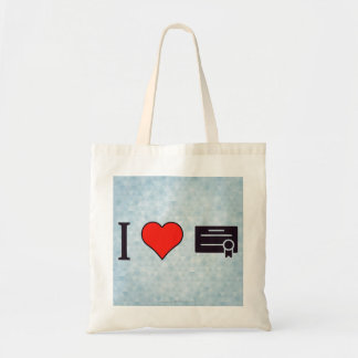 I Heart Certificates Tote Bag