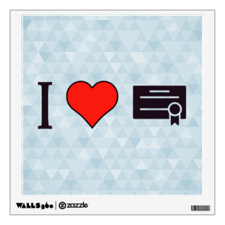 I Heart Certificates Wall Decal