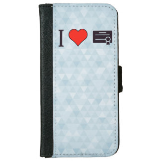 I Heart Certificates Wallet Phone Case For iPhone 6/6s