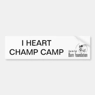 I HEART CHAMP CAMP Bumpersticker Car Bumper Sticker