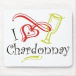 I Heart Chardonnay Mouse Pad