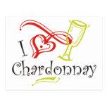 I Heart Chardonnay Post Card