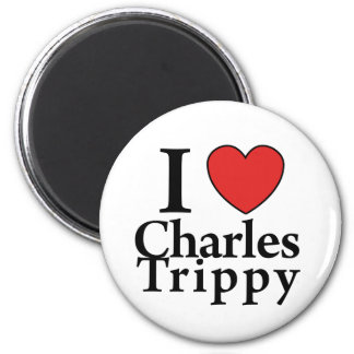 I Heart Charles Trippy 2 Inch Round Magnet