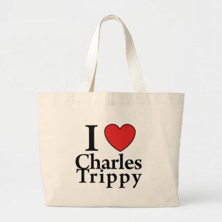 I Heart Charles Trippy Jumbo Tote Bag