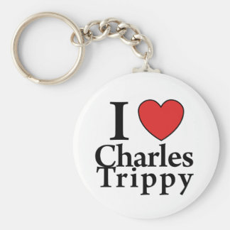 I Heart Charles Trippy Basic Round Button Keychain
