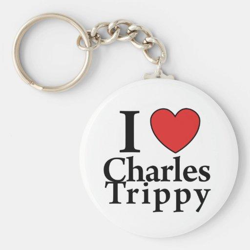 I Heart Charles Trippy Keychains