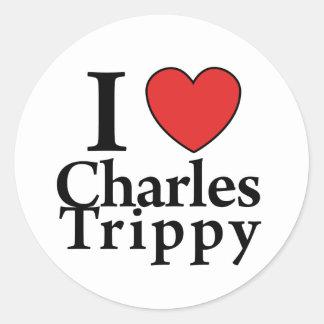I Heart Charles Trippy Classic Round Sticker