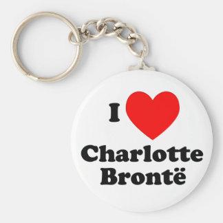 I Heart Charlotte Bronte Basic Round Button Keychain