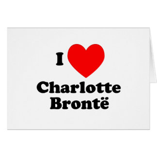 I Heart Charlotte Bronte Greeting Cards