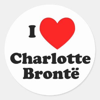I Heart Charlotte Bronte Classic Round Sticker