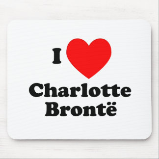 I Heart Charlotte Bronte Mouse Pad