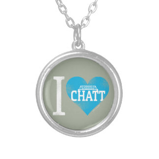 I Heart Chatt Collection Round Pendant Necklace