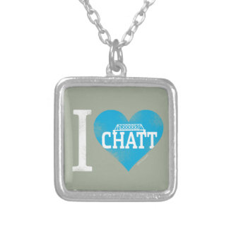 I Heart Chatt Collection Silver Plated Necklace