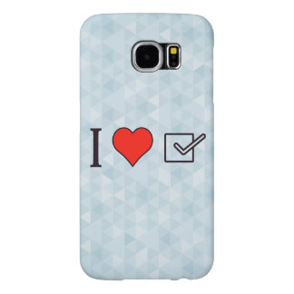 I Heart Checked Lists Samsung Galaxy S6 Case