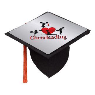 I Heart Cheer Leading Graduation Cap Topper