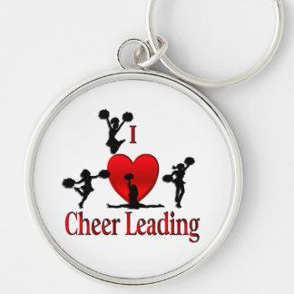 I Heart Cheer Leading Keychain