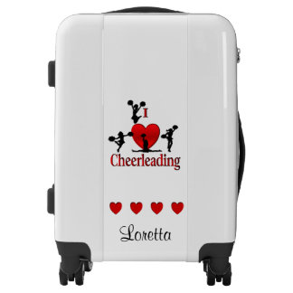 I Heart Cheer Leading Personalized Luggage