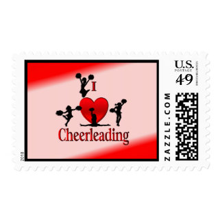 I Heart Cheer Leading Postage