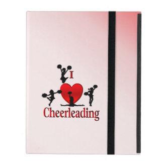 I Heart Cheerleading iPad Case