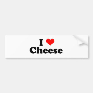 I Heart Cheese Bumper Stickers